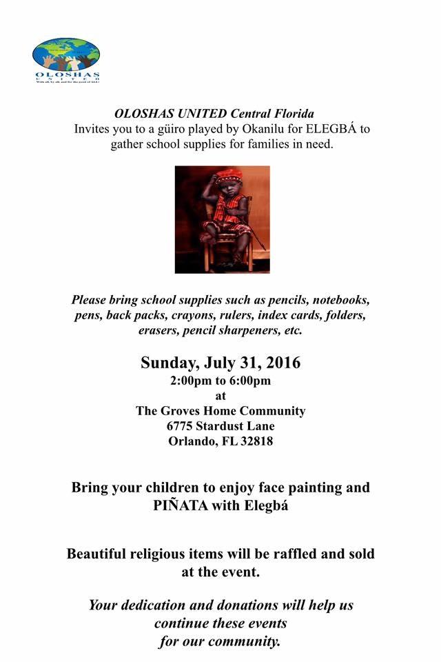 Oloshas United Central Florida Guiro for Elegba!
